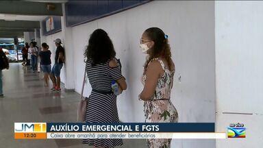 Agências da Caixa abrem neste sábado (8) no Maranhão - Atendimento será realizado para beneficiários do auxílio emergencial.