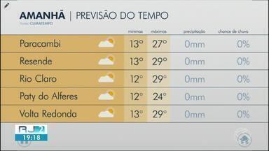 Meteorologia prevê tempo quente neste sábado no Sul do Rio - Temperaturas ficam perto dos 30 graus durante a tarde, mas durante a noite devem cair.