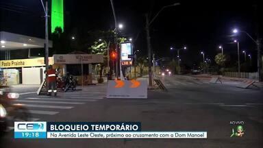 Bloqueio temporário na Avenida Leste-oeste - Saiba mais em g1.com.br/ce