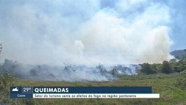 Setor do turismo sente os efeitos do fogo na região pantaneira - Bolívia também registra focos de queimadas e Agesul anuncia reconstrução de ponte