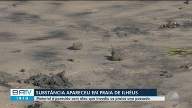 Material pareceido com óleo que atingiu nordeste reaparece em praias do sul da Bahia - Mais de uma tonelada de substância foi recolhida nesta sexta-feira (7)