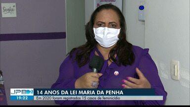 Paraíba tem 15 casos de feminicídio registrados em 2020 - 14 anos da Lei Maria da Penha