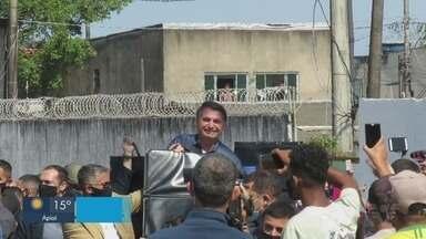 Bolsonaro recebe título e visita Ponte dos Barreiros em São Vicente - Presidente fez visita à região nesta sexta-feira (7).
