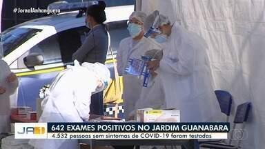 Mais de 600 pessoas testam positivo para Covid-19 em exames realizados pela prefeitura - Primeira etapa da testagem gratuita foi realizada no Jardim Guanabara.
