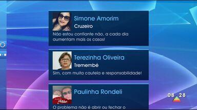 Público participa do Bom Dia Vanguarda - Telespectadores participam pelas redes sociais