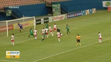 Manaus FC e Vila Nova empatam na Arena da Amazônia pela Série C do Brasileirão - Gavião levou gol no último minuto da partida.