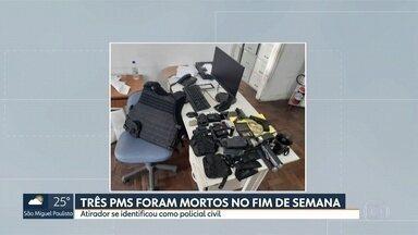 Polícia faz busca na casa de matador de PMs - PMs foram assassinados ao abordar dupla em carro. Atirador se identificou como policial civil, apesar de não ser.