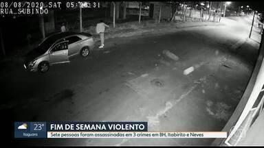 Crimes brutais em BH, Itabirito e Ribeirão das Neves no fim de semana - O mais chocante foi no bairro Califórnia, em Belo Horizonte. Além disso, quatro pessoas foram mortas em uma chacina em Itabirito e em Neves, um casal foi morto quando deixava uma penitenciária.
