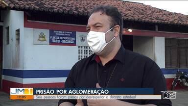 Seis pessoas são presas por provocar aglomerações em São Luís - Além de desrespeitar o decreto, o grupo foi detido por desacato.