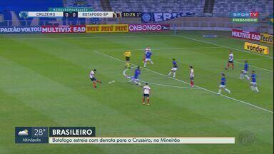 Botafogo-SP estreia com derrota para o Cruzeiro na Série B - Partida no Mineirão terminou em 2 a 1.