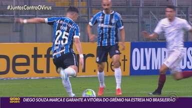 Diego Souza marcou o gol que garantiu a vitória do Grêmio na estreia do Brasileirão - Assista ao vídeo.