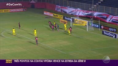 Vitória estreia com triunfo sobre o Sampaio Corrêa na Série B - Vitória estreia com triunfo sobre o Sampaio Corrêa na Série B