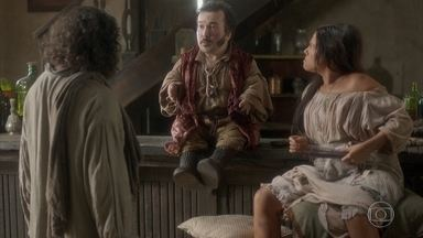 Licurgo tira satisfações com Hércules ao vê-lo se insinuar para Germana - Ele começa uma briga que não acaba bem