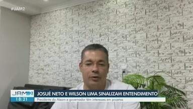 No AM, Josué Neto e Wilson Lima sinalizam entendimento - Presidente da Aleam e governador tem interesses em projetos.