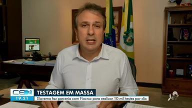 Governador anuncia ampliação de testagem em massa no Ceará - Saiba mais em g1.com.br/ce
