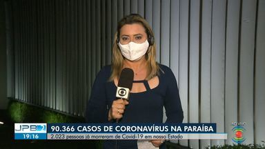 90.366 casos de coronavírus são confirmados na Paraíba - 2.023 pessoas já morreram de Covid-19 no Estado.