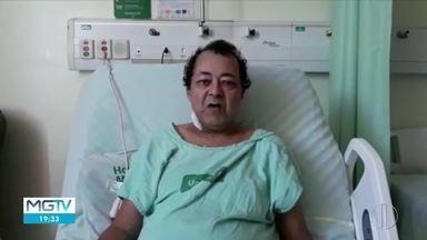 Homem deixa hospital após 36 dias na UTI em Coronel Fabriciano - Mário da SIlva Lima, de 56 anos, estava com Covid-19.