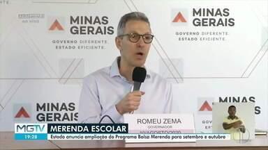 Romeu Zema anuncia ampliação do Bolsa Merenda - Foram beneficiados mais 86 mil alunos.
