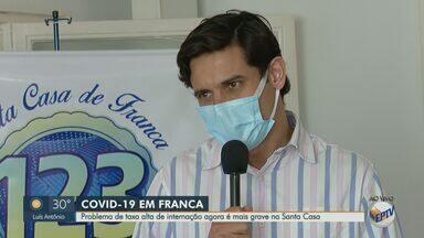 Santa Casa de Franca, SP, opera com 100% de ocupação em leitos de UTI para Covid-19 - Das 27 vagas disponíveis, 26 estão ocupadas com pacientes da cidade e uma com morador de Orlândia (SP).