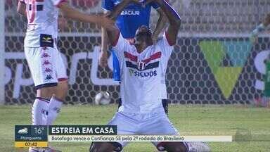 Botafogo-SP vence o Confiança-SE pela 2ª rodada da Serie B do Campeonato Brasileiro - O jogo da terça–feira (11) no Estádio Santa Cruz terminou em 2 a 0.