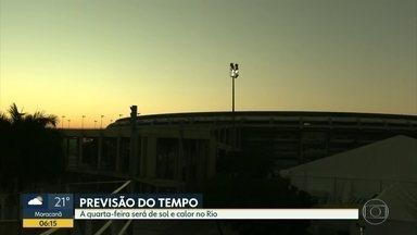 Previsão do tempo para esta quarta-feira (12) - A quarta será de sol e calor no Rio; temperatura máxima de 30 graus