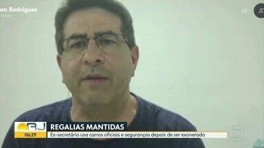 Ex-secretário estadual usa carros oficiais e seguranças mesmo depois de exonerado - Cleiton Rodrigues deixou o governo Witzel há três semanas