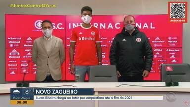 Lucas Ribeiro chega ao Inter por empréstimo até o fim de 2021 - Assista ao vídeo.