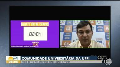 Consulta acadêmica para escolher reitor da UFPI acontece nesta quarta-feira (12) - Consulta acadêmica para escolher reitor da UFPI acontece nesta quarta-feira (12)