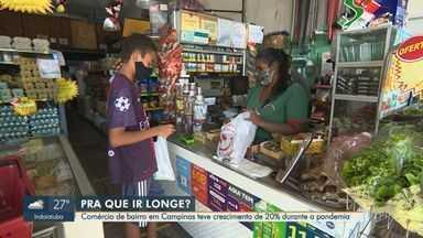 Comércio de bairro em Campinas tem crescimento de 20% durante a pandemia - Com a quarentena por conta do novo coronavírus, muitas pessoas preferiram recorrer as compras do dia a dia em locais mais próximos de suas casas.