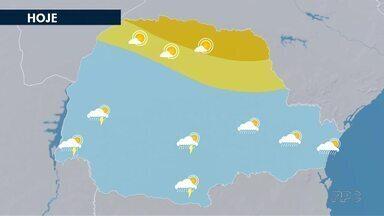 Chuva chega ao Paraná pela Região Oeste - As nuvens carregadas entraram pelo oeste e vão se espalhar nos próximos dias.
