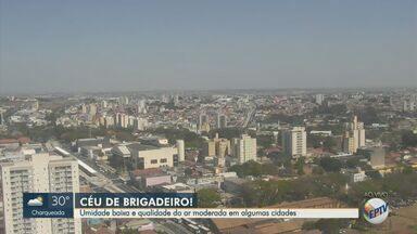 Previsão do tempo mostra umidade baixa e qualidade do ar moderada na região - Campinas (SP) tem temperatura máxima de 28°C nesta quarta-feira (12).