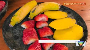 Receita da quarentena: aprenda a fazer frutas flambadas - Receita é do Chef Anderson.