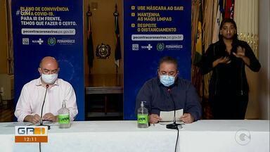 Secretário de Saúde de PE alerta sobre a importância da prevenção da Covid-19 - André Longo fez pronunciamento ontem durante coletiva