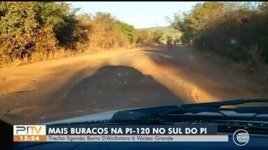 Motoristas denunciam trecho intransitável da PI-120 no Sul do Piauí - Motoristas denunciam trecho intransitável da PI-120 no Sul do Piauí