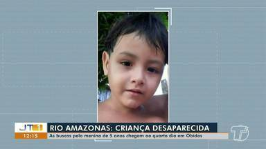 Continuam as buscas pela criança de 5 anos que desapareceu no Rio Amazonas, em Óbidos - Menino está desaparecido desde o domingo, 9.