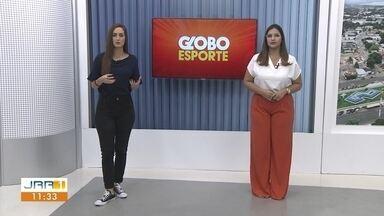 Participação do Globo Esporte no JRR 1ª edição - Apresentadoras Gabriela Garcia e Camila Costa comentam os destaques no mundo do esporte.