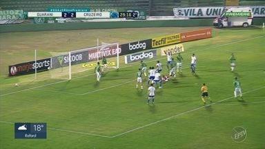 Guarani sai na frente, mas toma virada e perde em casa para o Cruzeiro - Técnico Thiago Carpini admitiu um sentimento de frustração após a derrota do Bugre.