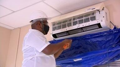 Procura por serviço de revisão de ar-condicionado aumenta na região de Itapetininga - A procura pelo serviço de revisão de aparelhos de ar-condicionado aumentou na região de Itapetininga (SP).