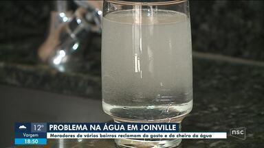 Moradores de Joinville reclamam da qualidade da água - Moradores de Joinville reclamam da qualidade da água