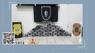 Trio é preso com mais 60 quilos de droga em embarcação no Juruá - Trio é preso com mais 60 quilos de droga em embarcação no Juruá