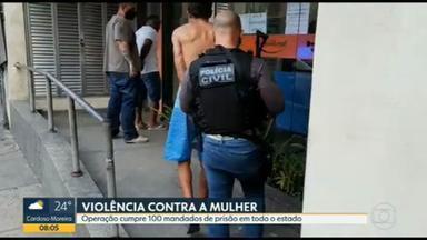 Operação cumpre 100 mandados de prisão contra agressores de mulheres - Equipes de todo o estado estão nas ruas para cumprir mandados na Operação Atena.