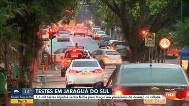 Jaraguá do Sul anuncia aplicação de 1,5 mil testes rápidos para traçar panorama da doença - Jaraguá do Sul anuncia aplicação de 1,5 mil testes rápidos para traçar panorama da doença