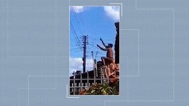 Furto de energia é flagrado em Codó - Ação criminosa foi toda gravada por meio de aparelhos celulares do moradores da cidade.