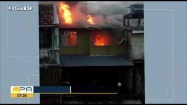 Incêndio atinge apartamento em residencial Stélio Maroja em Ananindeua - Incêndio em Ananindeua.