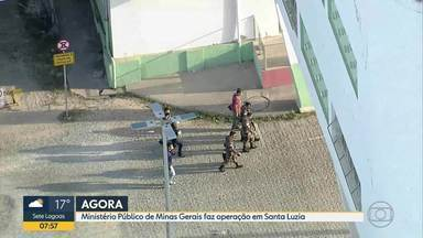 Ministério Público de Minas Gerais faz operação em Santa Luzia - Investigação apura esquema de desvio de recursos públicos em Santa Luzia. Sete mandados de busca e apreensão estão sendo cumpridos na cidade, inclusive nas sedes da prefeitura e da Secretaria Municipal de Cultura.