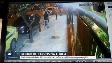 Preso suspeito de chefiar quadrilha de roubo de carros na Tijuca - Ele estava na Barra da Tijuca e não ofereceu resistência.