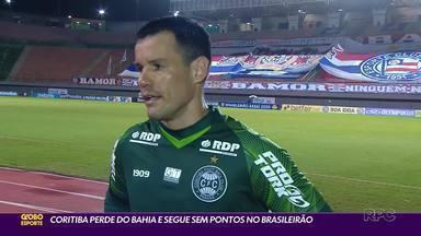 Coritiba perde a segunda no Campeonato Brasileiro - Mesmo pressionando no final, Coxa é derrotado pelo Bahia em Salvador