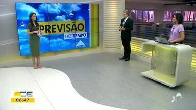 Veja a previsão do tempo e a situação do trânsito com Camila Marcelo - Saiba mais em: g1.com.br/ce