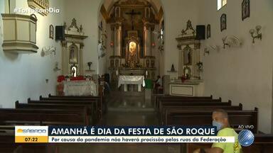 Festa de São Roque: Confira programação da tradicional cerimônia em Salvador - Festa será celebrada no domingo (16). Por causa da pandemia, não haverá procissão pelas ruas da Federação.