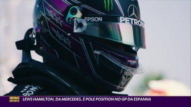 Lews Hamilton, da Mercedes, é pole position no GP da Elspanha - Lews Hamilton, da Mercedes, é pole position no GP da Elspanha